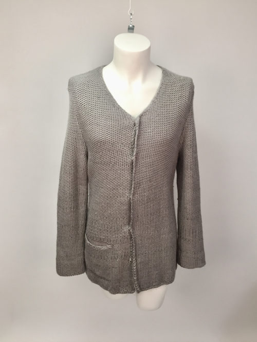Knitted Tuck jacket M-L